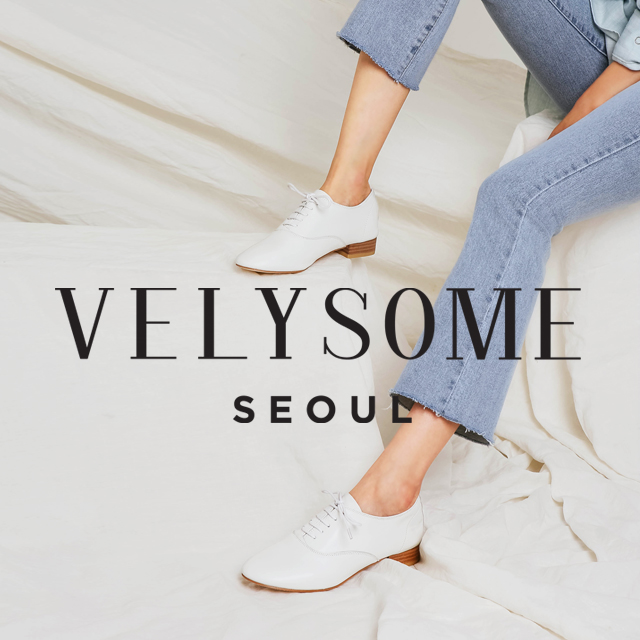 [VELYSOME] Round Toe Stack Heel Oxfords