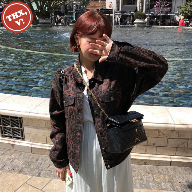 [THX,V] NO.606 Leopard Cotton Blend Jacket