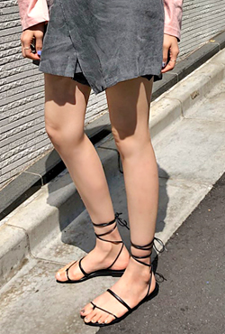 Wraparound Self-Tie Sandals