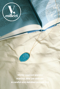 [V,Collect] Teal Blue Stone Necklace
