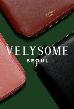 [VELYSOME] Zip Around Leather Wallet