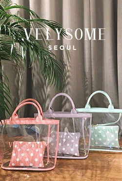 [VELYSOME] Polka Dot Pouch PVC Bag