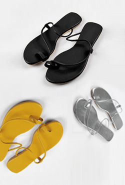 Asymmetric Strap Faux Leather Slippers