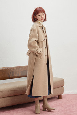 [VELYTED EDITION] Handmade Wool-Cashmere Blend Trench Coat